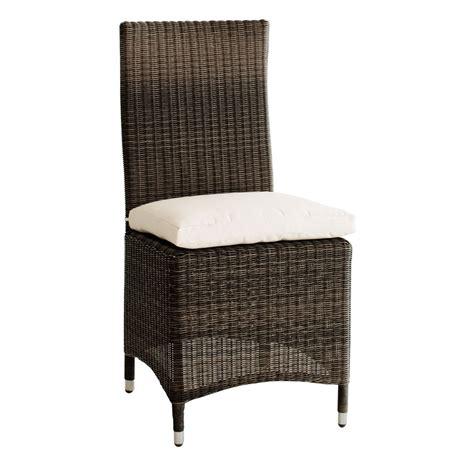 coussin de chaise maison du monde chaise de jardin coussin en résine tressée et tissu marron bali maisons du monde