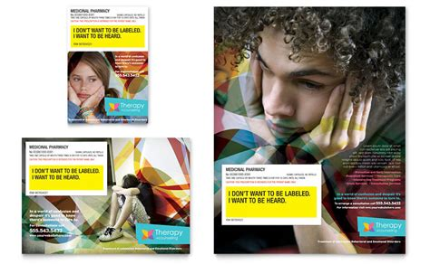 adolescent counseling flyer ad template word publisher