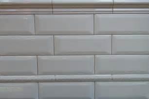 White Beveled Subway Tiles