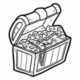 Treasure Chest Coloring Pages Clipart Printable Clip Pirate Drawing Water Under Colouring Svg Clipartmag Adults sketch template