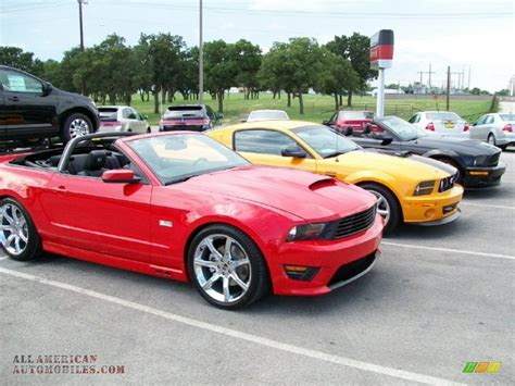2011 Ford Mustang Saleen S302 Convertible In Race Red