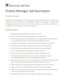 construction project manager description for resume resume cover letter construction project manager exles for 25 amusing description sle