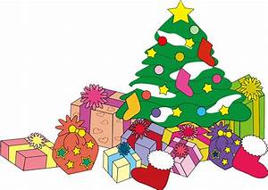 Clipart - Christmas Tree And Presents Illustration