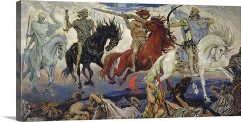 horsemen apocalypse four 1887 horse wall canvas vasnetsov roll zoom