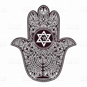 Jewish Hamsa Tattoo stock vector art 638014882 | iStock