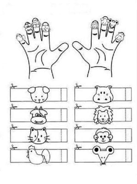 animals finger puppets learningenglish esl