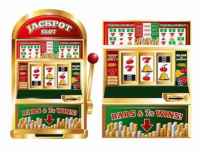 Slot Machine Gambling Vector Poker Clip Composition