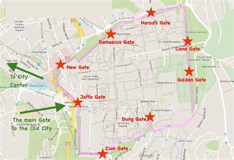 mapas de jerusalen ciudad vieja centro ciudad