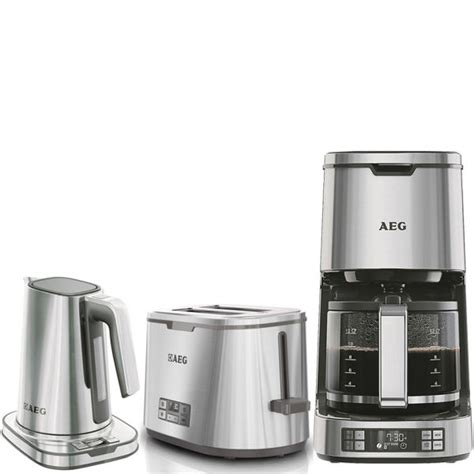 And that is why some people love traveling and prefer electric kettle much more than coffee makers. AEG Series 7 Toaster, Kettle and Coffee Machine Bundle - Stainless Steel Homeware | TheHut.com