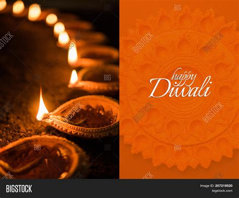 happy diwali greeting image photo  trial bigstock