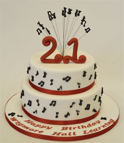 tier st birthday musical notes cake adult birthday