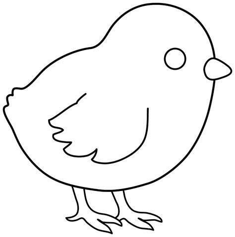 chick template printable