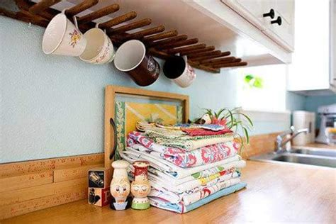 coffee cup rack under cabinet 15 insanely cool diy coffee storage ideas