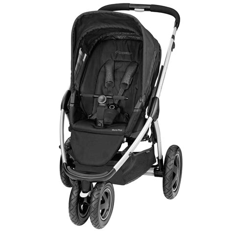 maxi cosi mura plus 3 pushchair modern black kiddicare