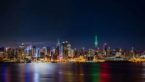 new york city empire state building panorama by