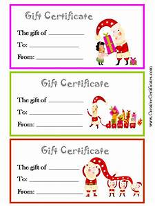 Printable christmas gift certificate new calendar template site for Printable christmas gift certificates