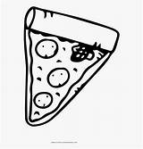 Pizza Coloring Slice Para Fatia Colorir Cartoon Netclipart sketch template