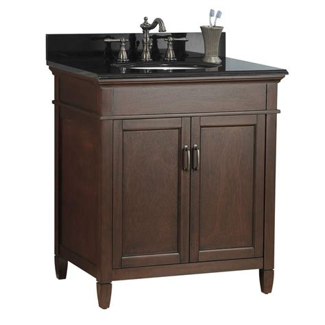 31 granite vanity top with foremost ashburn 31 in w x 22 in d vanity in mahogany
