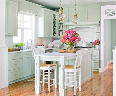 Coastal Cottage Style Kitchen  Rumah Minimalis