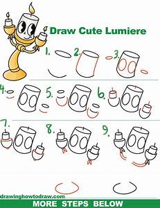 How to Draw Lumiere (Cute Kawaii / Chibi) from Beauty and ...