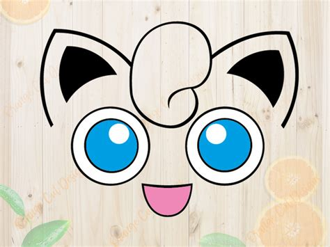 pokemon svg cutfiles jigglypuff face cutfiles