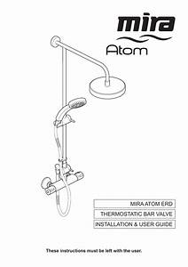 Mira Atom Erd Thermostatic Bar Valve Installation  U0026 User