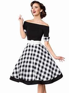 Robe Retro Année 50 : robe pin up ann es 50 rockabilly retro belsira black vichy ~ Nature-et-papiers.com Idées de Décoration