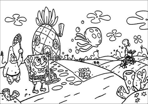 kumpulan gambar mewarnai spongebob terbaru gambar