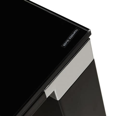 plaque de verre bureau bureau de direction design plateau verre noir