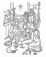 Jesus Coloring Pages Nativity sketch template