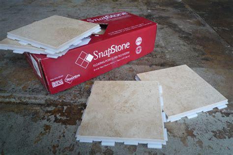 snapstone interlocking tile system tiling made easier