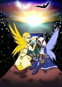 Fairies of Moon and Sun by Yula568 on deviantART