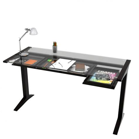 glass writing desk with drawers leo valsecchi wooden writing desk glass top 140 x 60 cm