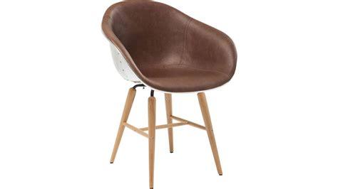 chaise avec accoudoirs achetez votre chaise cuir marron et alluminium avec