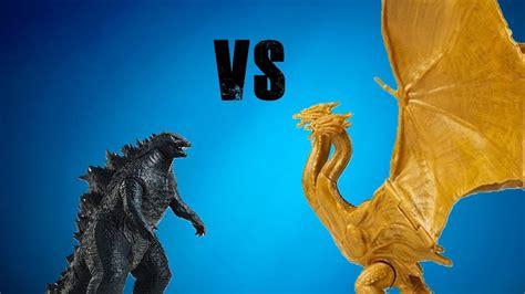Godzilla 2019 Vs King Ghidorah 2019 (toy Battle)