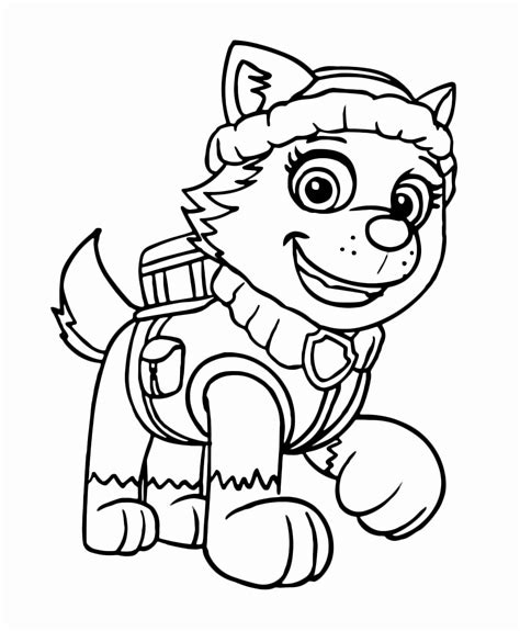 Everest Paw Patrol Coloring Page youngandtae com in 2020