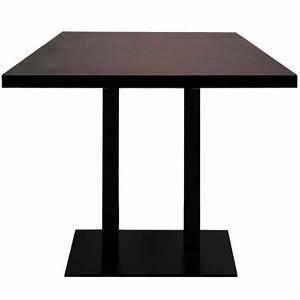 Table Haute Rectangulaire : table haute base rectangulaire ultra plat en acier noir avec plateau rectangulaire t2627 one ~ Teatrodelosmanantiales.com Idées de Décoration