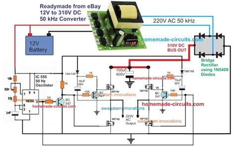 5kva ferrite core inverter circuit full working diagram with calculation details homemade