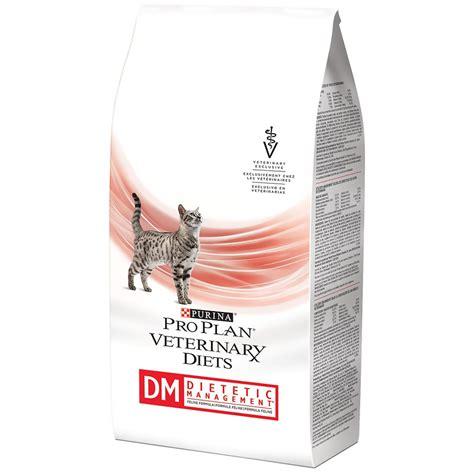 plan am駭agement cuisine purina pro plan veterinary diets dm dietetic management cat food 6 lb