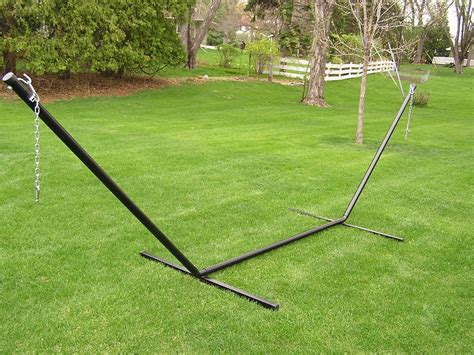 Standard Hammock Dimensions by Deluxe Two Person 15 Foot Steel Tri Beam Hammock Stand Ebay