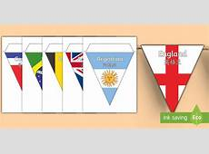 Football World Cup 2018 Country Flag Bunting Display