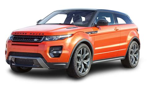 Land Rover Car : Range Rover Evoque Orange Car Png Image