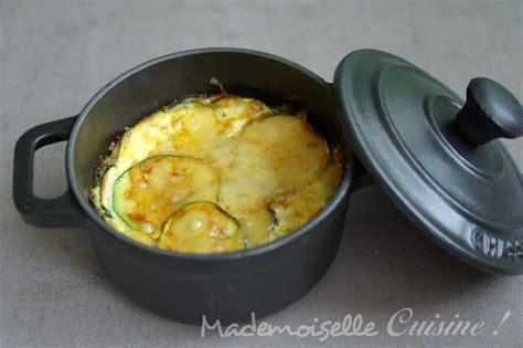 gratin de courgettes en mini cocottes mademoiselle cuisine