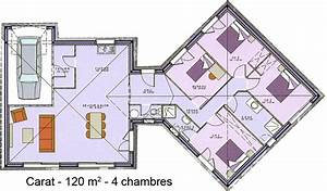 modele et plans carat 4 ch du constructeur maisons sic With wonderful modele de plan maison 0 maison plain pied garage double