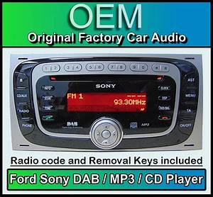 Auto Radio Sony : ford transit dab radio car stereo ford sony dab cd mp3 player with removal keys ebay ~ Medecine-chirurgie-esthetiques.com Avis de Voitures