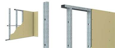 steel stud track wall framing system for plasterboard walls