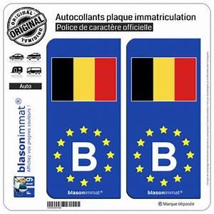 Acheter Plaque Immatriculation : autocollant immatriculation b belgique drapeau identifiant europeen ~ Gottalentnigeria.com Avis de Voitures
