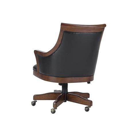 howard miller bonavista club office chair in rustic cherry