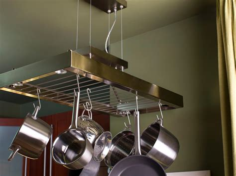 small pot rack small kitchen storage ideas pictures tips from hgtv hgtv