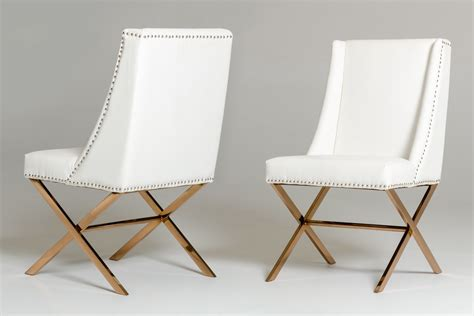 white modus dining chair with gold frame home and